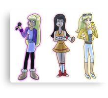 Rich and Popular Cartoon Girls Metal Print
