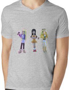 Rich and Popular Cartoon Girls Mens V-Neck T-Shirt