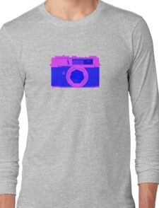 YASHICA Illustration Pink & Blue Long Sleeve T-Shirt