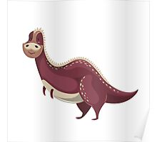 Funny cartoon dinosaur Poster