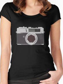 YASHICA illustration Women's Fitted Scoop T-Shirt