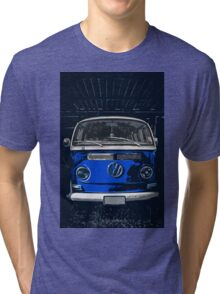 Volkswagen Blue combi illustration Tri-blend T-Shirt