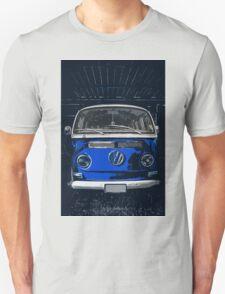 Volkswagen Blue combi illustration Unisex T-Shirt