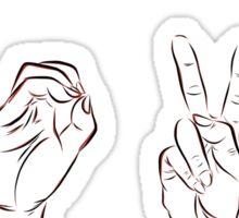 LOVE in ASL  Sticker