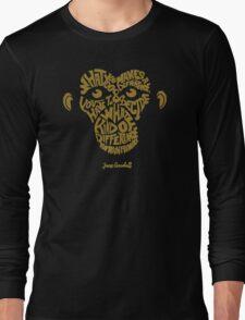 Jane Goodall monkey Long Sleeve T-Shirt