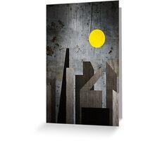 Grunge Winter Rusty City Geometric Flat Urban Landscape Greeting Card