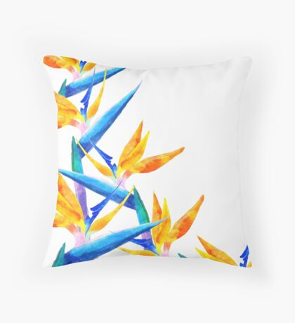 Bird of Paradise V2 #redbubble #lifetsyle Throw Pillow