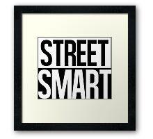 Street Smart - White Framed Print