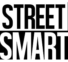 Street Smart - White Photographic Print