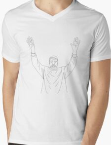 Hand's up, we just doing what the cops taught us (Kanye West) Mens V-Neck T-Shirt