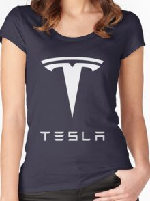 tesla retro vintage classic Women's Fitted Scoop T-Shirt