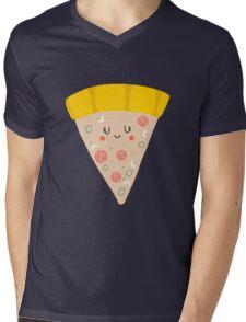 Cute funny smiling pizza slice Mens V-Neck T-Shirt