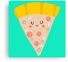 Cute funny smiling PIZZA slice Canvas Print