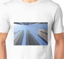 Photography of modern tall buildings from Dubai, United Arab Emirates. Unisex T-Shirt