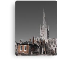 Norwich Cathedral; Brick & Stone Canvas Print