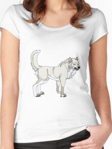 A Wolf Lover's Cream Soda Women's Fitted Scoop T-Shirt