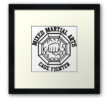 Mixed Martial Arts Cage Fighter Framed Print