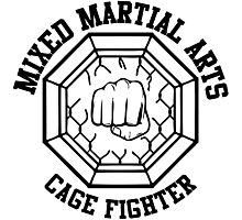 Mixed Martial Arts Cage Fighter Photographic Print