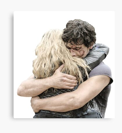 bellamy and clarke hug Canvas Print