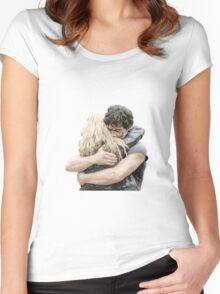 bellamy and clarke hug Women's Fitted Scoop T-Shirt