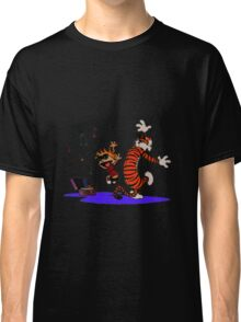 Calvin and Hobbes Dancing in the Floor Classic T-Shirt