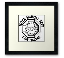 Mixed Martial Arts Cage Fighter Armbar Framed Print