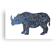 Abstract Rhino Coloured Canvas Print