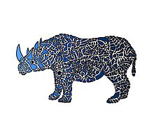 Abstract Rhino Coloured Photographic Print