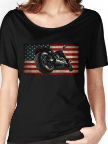 Modern Harley Davidson Fatboy USA Women's Relaxed Fit T-Shirt