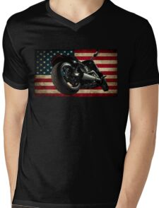 Modern Harley Davidson Fatboy USA Mens V-Neck T-Shirt