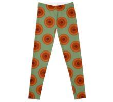 Orange dahlia roundelay Leggings