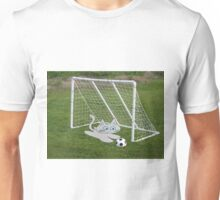 A Cat Plays Goalie In Back Yard Unisex T-Shirt