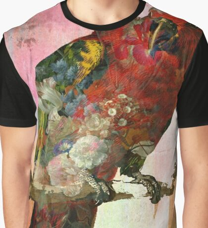 Red Bird in flowers Graphic T-Shirt