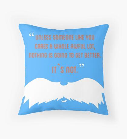 The Lorax Throw Pillow