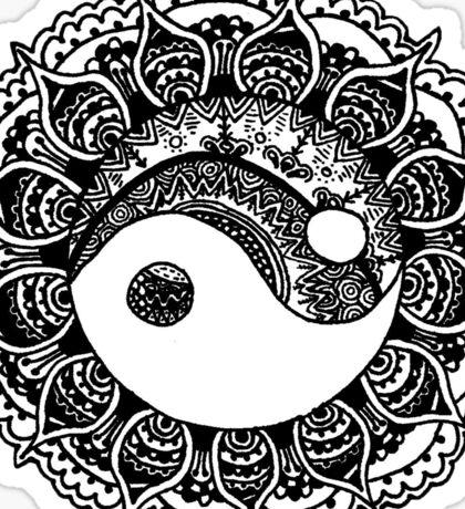 Ying Yang Sharpie Vibes Sticker