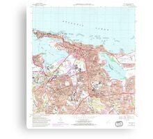 USGS TOPO Map Puerto Rico PR San Juan 362268 1969 20000 Canvas Print