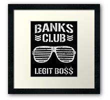WWE Banks Club  Framed Print