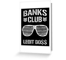 WWE Banks Club  Greeting Card