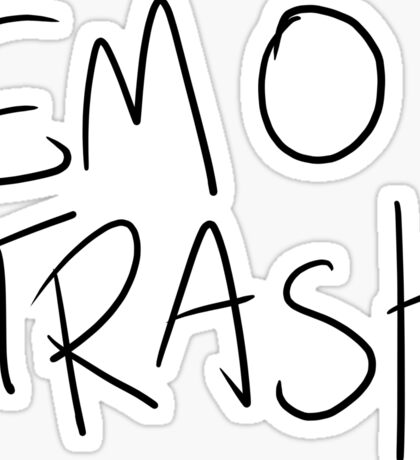 EMO TRASH Sticker