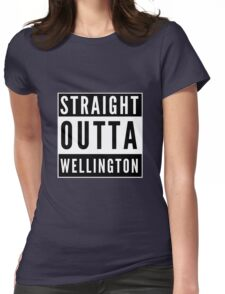 Straight Outta Wellington Womens Fitted T-Shirt