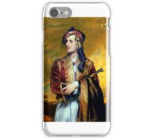 Thomas Phillips - Lord Byron in Albanian Dress iPhone Case/Skin
