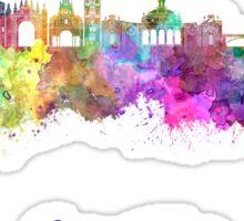 Seville skyline in watercolor Sticker