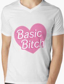 Basic Bitch Blue Mens V-Neck T-Shirt
