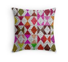 Triangle retro Throw Pillow