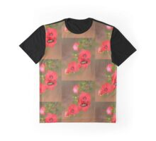 Red Wildflower with Beetle Graphic T-Shirt