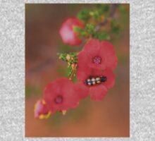Red Wildflower with Beetle Kids Tee
