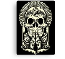 HOLLY SKULL Canvas Print