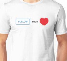 Follow your Heart ❤ (On Instagram) Unisex T-Shirt