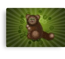 Brown Furry Cat 2 Canvas Print