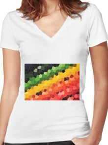 Mosaic Women's Fitted V-Neck T-Shirt